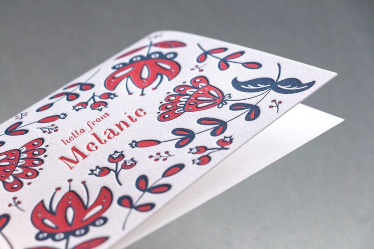 Letterpress Note Card