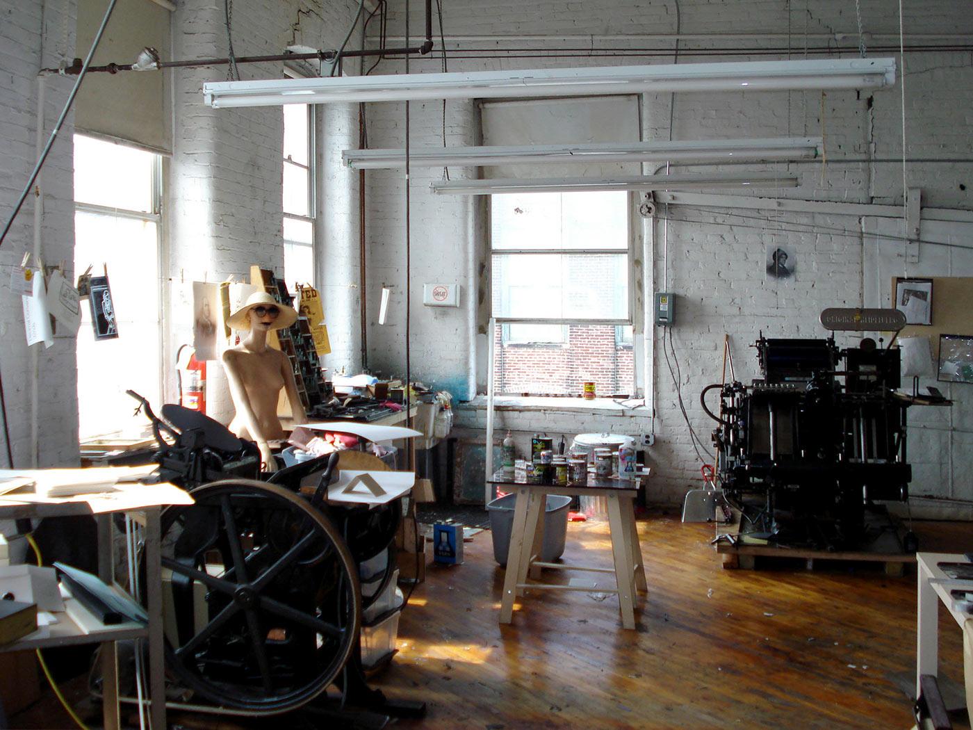Our letterpress studio in the Port Richmond neighborhood of Philadelphia, PA.