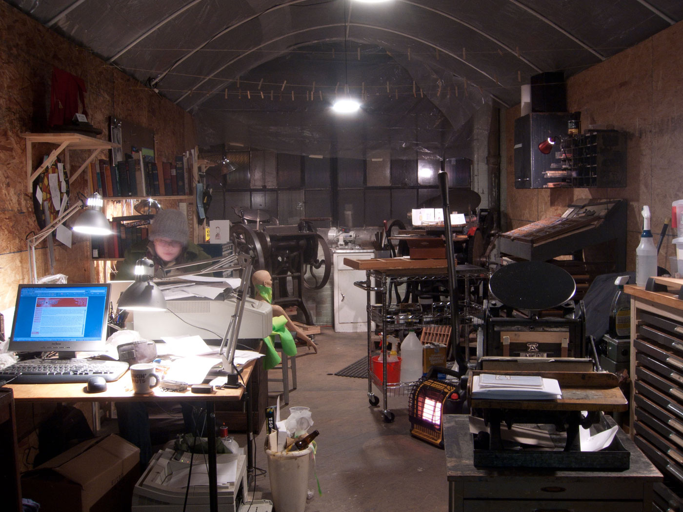 Our very first letterpress studio in Philly.