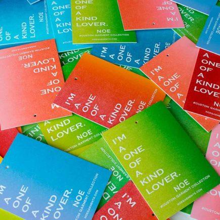 Rainbow Roll Letterpress Hang Tags
