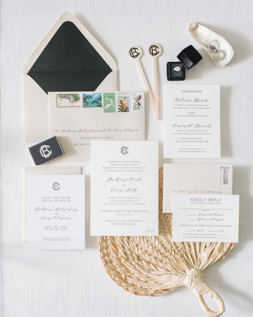 Letterpress Wedding Flat Lay