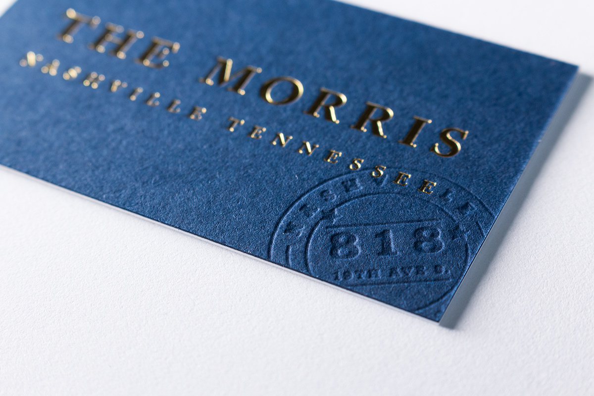 Blind Deboss and Gold Foil Business Card