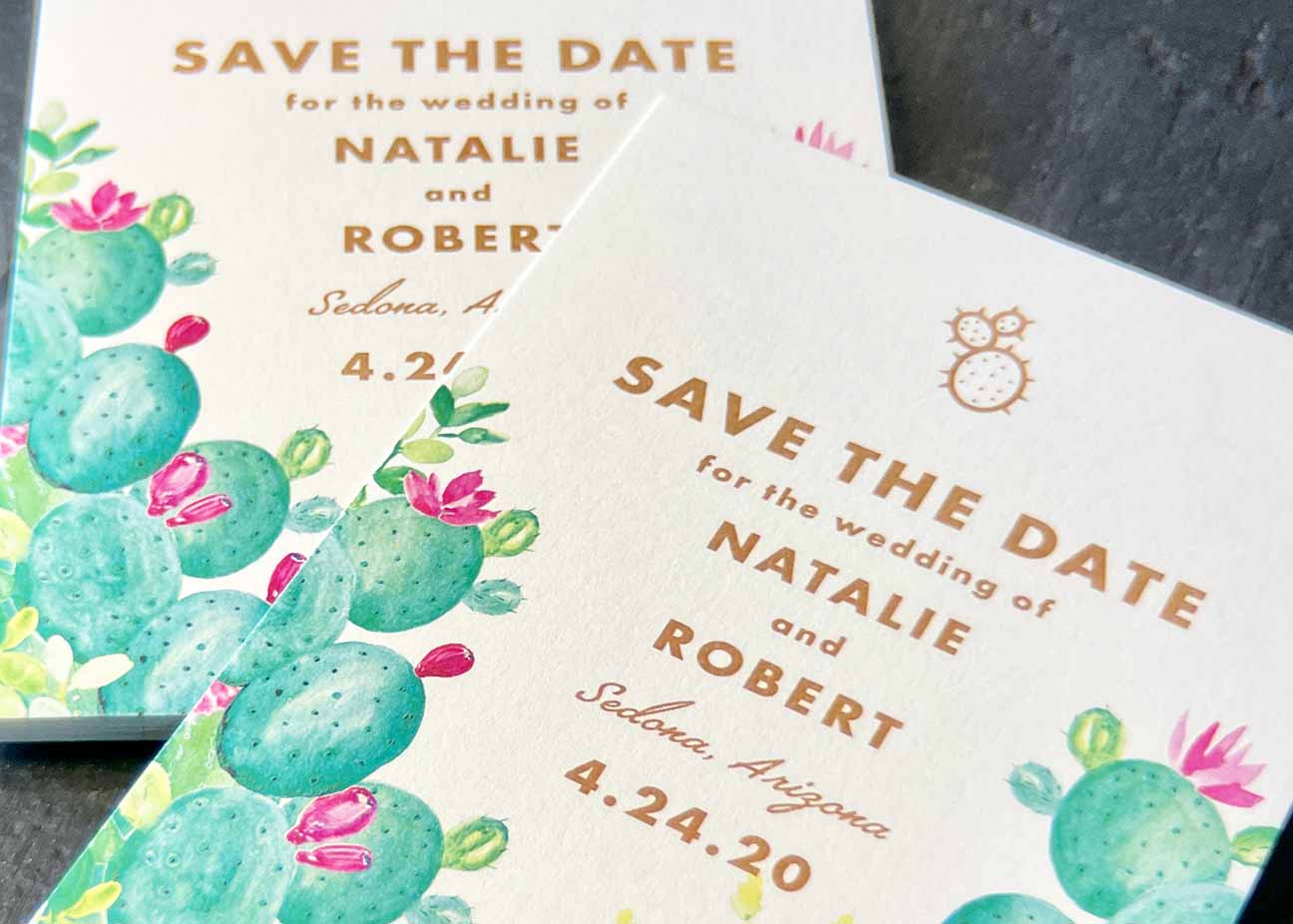 Full Color Digitally Printed Save The Date